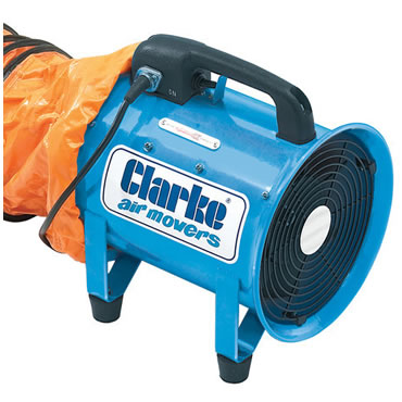 Clarke 200mm Portable Dust Fume Extractor For Hire York