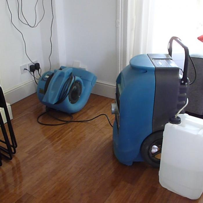 Specialist water damage repairs. Using air movement and dehumidification to remove water from saturated materials and return them to a pre-loos condition without the need from removing and replacing the plaster.