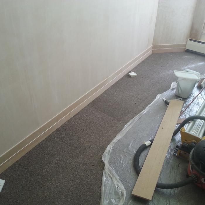 Excellent workmanship by Fraser Rafton our industry award wining employee and national award winning joiner. Here Fraser has put his talent to good use creating bespoke joinery skirting boards following extensive damp repairs for a well established solicitors in the City centre of York.