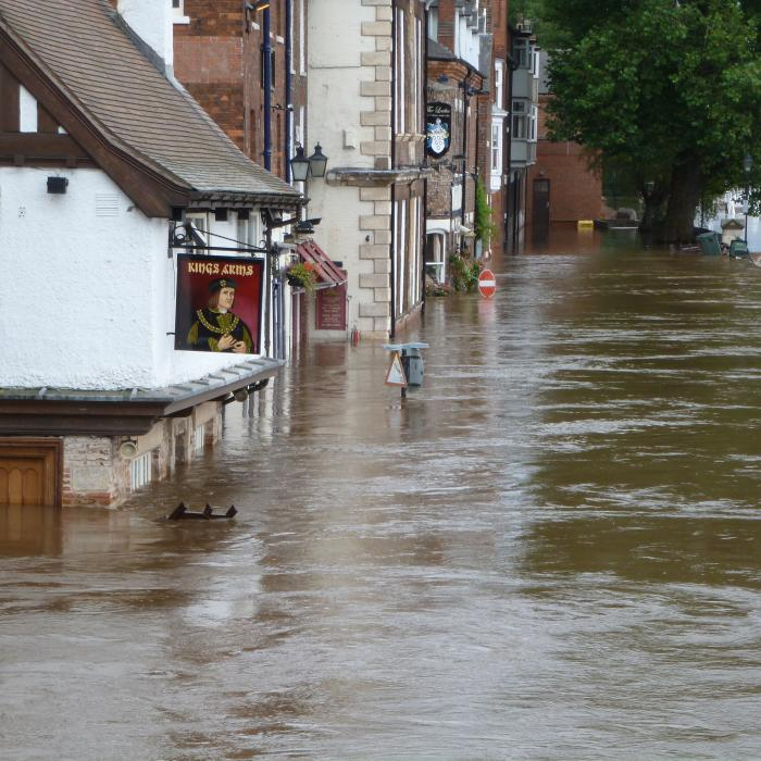 The Kings Arms pub in York closed due to severe flooding 2012.