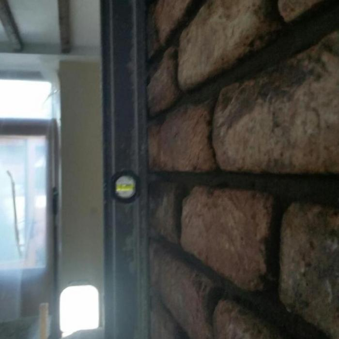 Alan's excellent masonry work with recessed pointing.