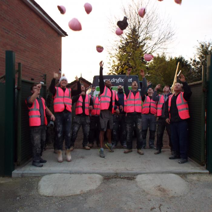 #wearitpink we're in! Builders in Pink - Breast Cancer Awareness - Hats off and lets lets raise some money!!!