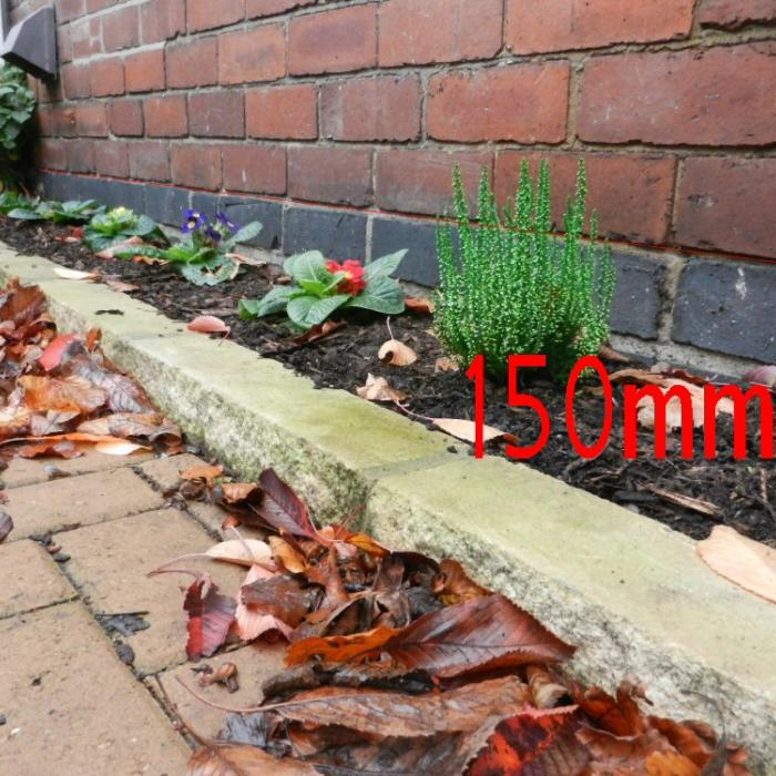 Raising ground levels against your building can reduce clearance to your Damp Proof Course (DPC) and compromise its effectiveness. Building regulations and Standard Codes of Practice stipulate a minimum distance of 150mm should be maintained between your DPC and the external ground to alleviate the DPC becoming breached by standing water or rain water splash back. Flower beds and new driveways are the most common breach of the damp proof course externally.