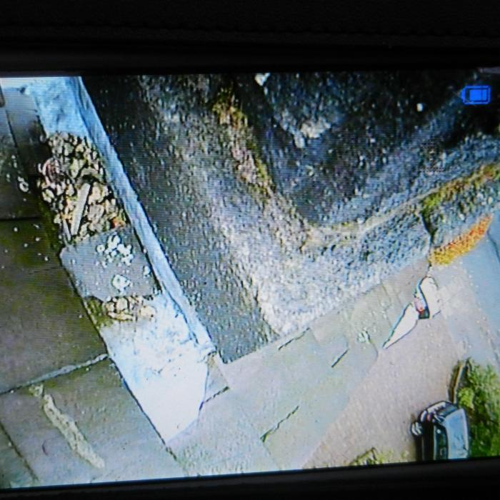 Telescopic pole camera is out again, this time inspection chimneys in Harrogate with suspect penetrative damp.