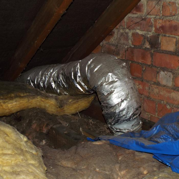 An old passive stack ventilation system commonly installed in the 80\'s and early 90\'s. These systems worked via the chimney stack effect and were pretty unreliable no wonder you don\'t see many around nowadays.