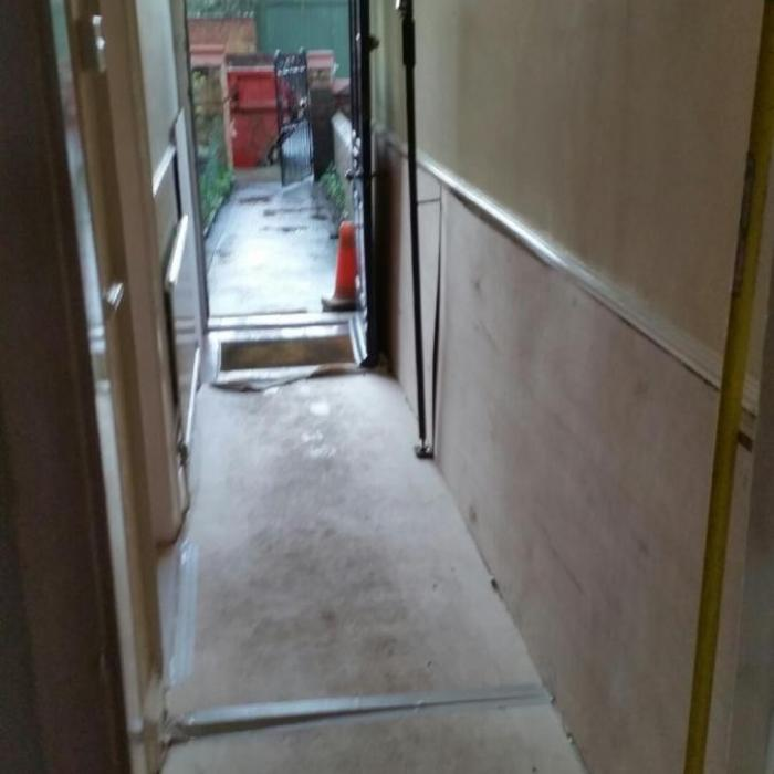 Theres nothing like providing great protection to walls and floor preventing the risk of damage before you start. Rember the six P's.... 