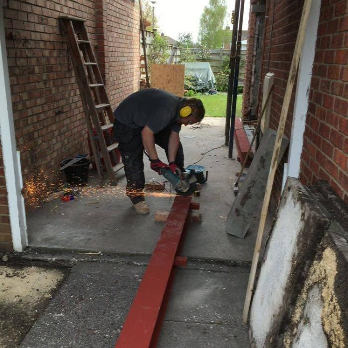 Our top bricklayer Alan has extended this garage following structural alteration and repairs at this York property. Our staff aren't just remedial technicians, they're top tradesmen too!