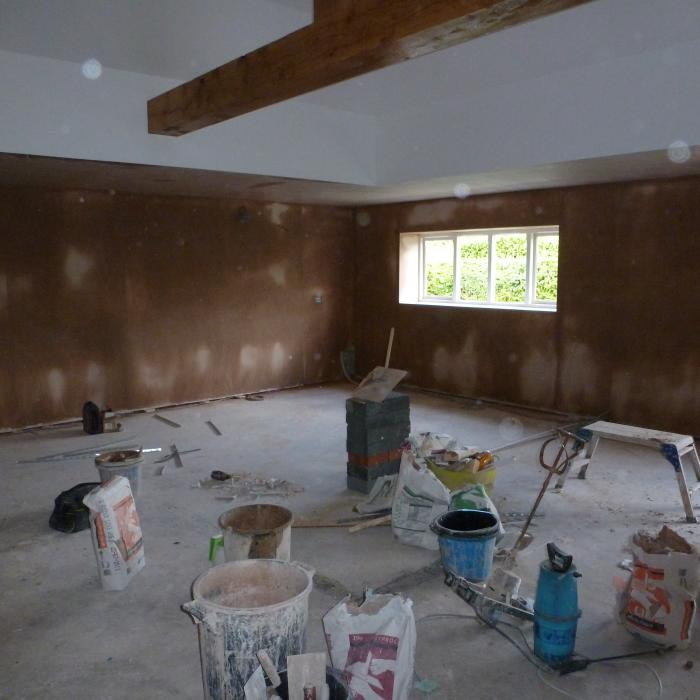 All walls and ceiling finish plastered - Excellent job! 