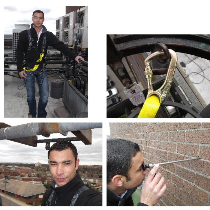 Sky's the limit! High rising cavity wall endoscope inspections. Lucky our surveyors aren't scared heights